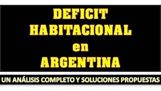 DEFICIT HABITACIONAL - Modelo de Analisis en Argentina 2015 2016
