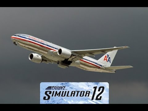 Trainz 12 American Airlines Boeing 777-200ER Takeoff and Flying Session