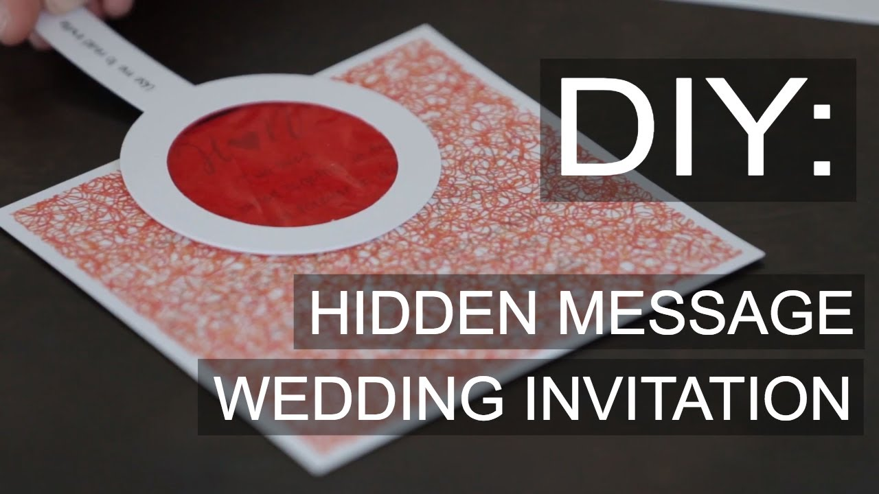 DIY Wedding Invitation Hidden Message Decoder - Pink Book Weddings ...