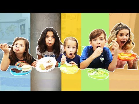 LAST TO EAT Rainbow FOOD! Wins $500 LAST TO LEAVE with YOUR color FOOD!