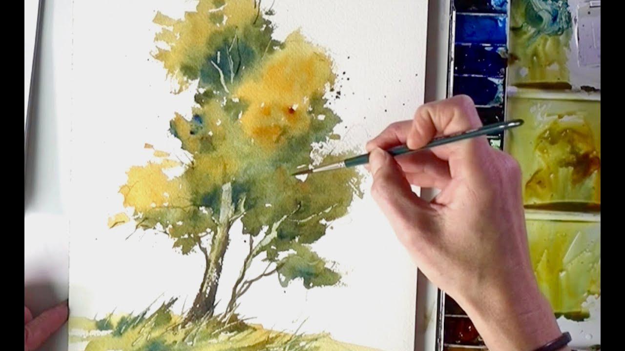 Einen Baum Aquarellieren English Subtitles Youtube
