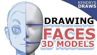 Clip studio paint- How to draw faces using 3d models
