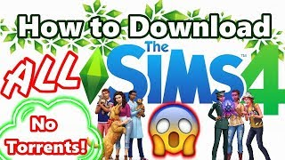 How to install ALL of the Sims 4 Games FOR FREE on PC