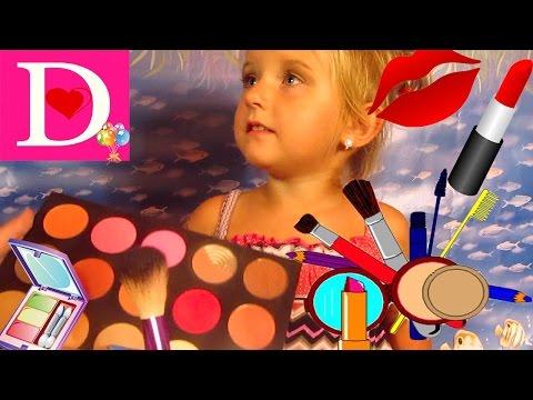 Игры Для Девочек МАКИЯЖ Для Детей Саша Красит Красиво Диану Видео Для Детей