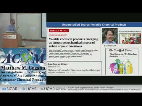 Matthew Coggon: Emissions From Deodorants And Other Consumer Chemical Products