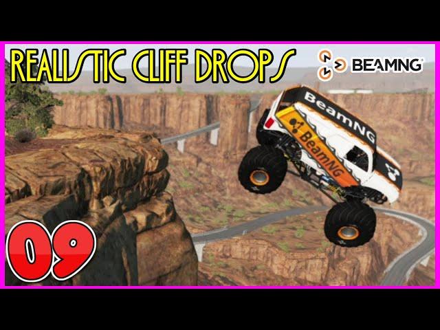 BEAMNG DRIVE #SHORTS | REALISTIC CLIFF DROPS #9