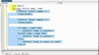 Visual Basic - Pseudocode to If-Else If-Else Conversion