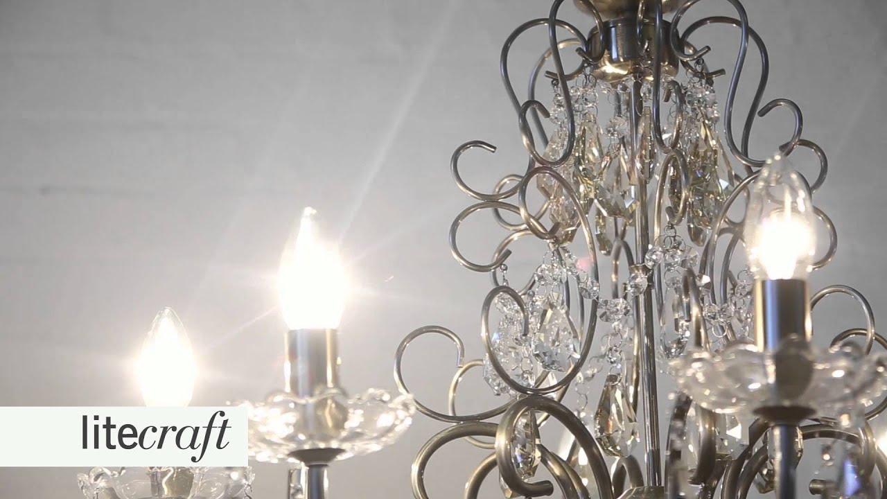Madonna 8 Light Antique Brass Dual Mount Chandelier   Litecraft ...