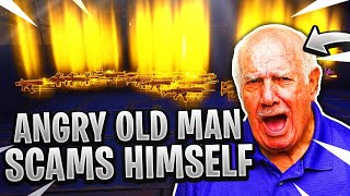 Angry Old Man Scams Himself! (Scammer Gets Scammed) Fortnite Save The World