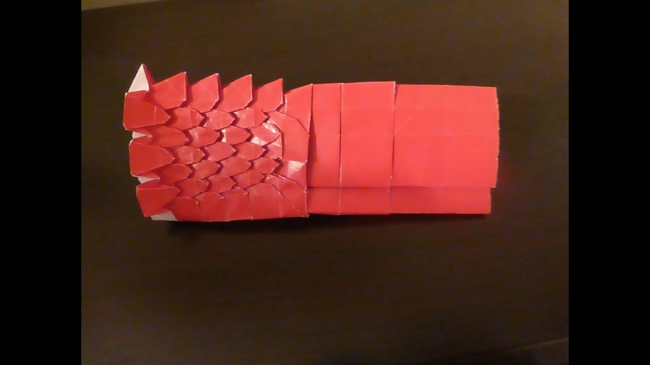 Origami Ryujin 3 5 Tail Base Tutorial