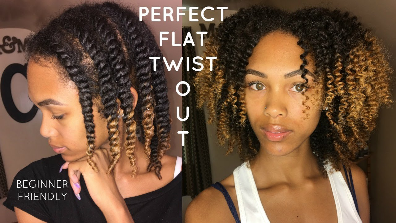easiest way to flat twist (step by step) | flat twist out for beginners