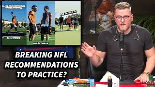 Pat McAfee's Thoughts On Tom Brady & Russell Wilson Practicing Against NFL Recommendations