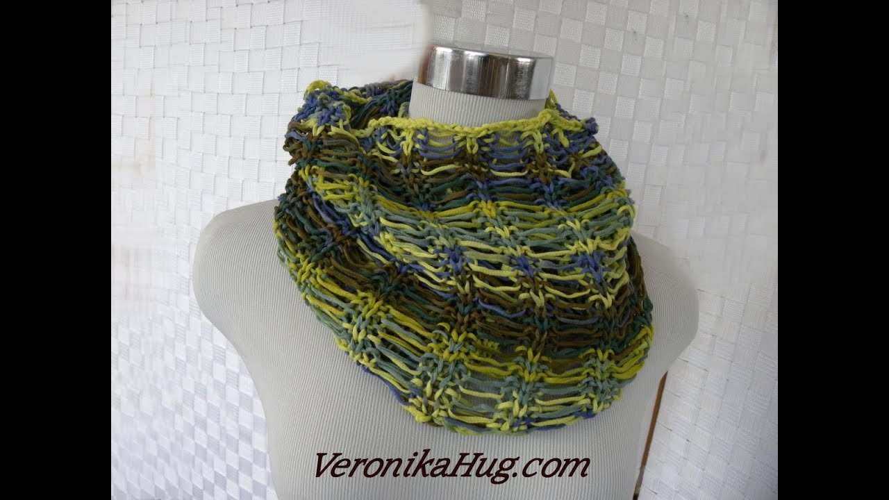 Stricken - Fallmaschen-Loop - Woolly Hugs BANDY 07 - Veronika Hug ...