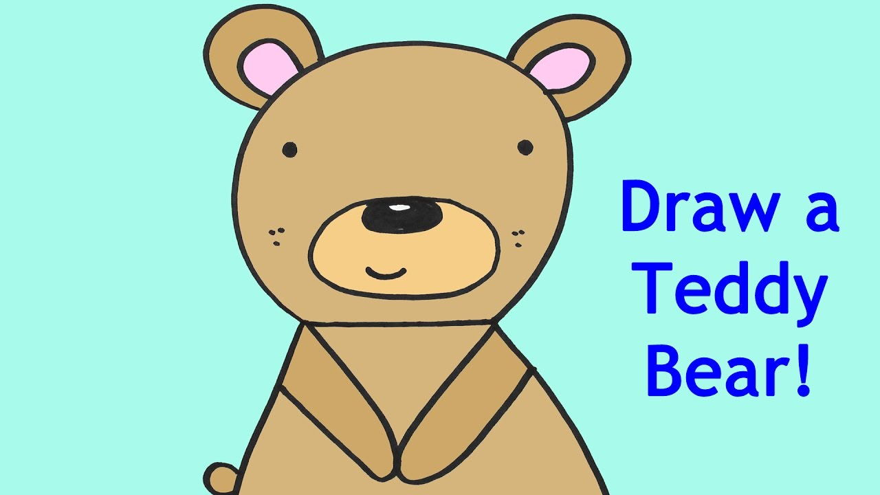 How to Draw a Cartoon Baby Teddy Bear Easy Drawing Tutorial for