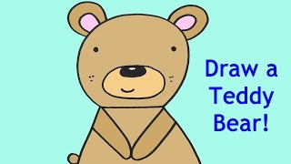 How To Draw A Cartoon Baby Teddy Bear Easy Drawing Tutorial For Kids