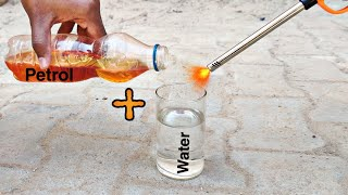 Mixing Water In Petrol || Petrol Burn Or Not || Experiment King