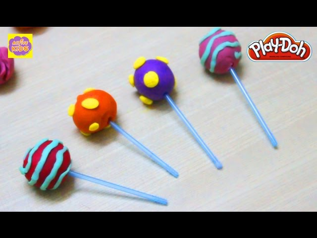 Play Doh -  Lollypop   Learning Creative Shapes Video For Kids & Childrens