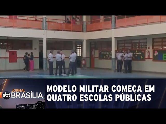 Modelo militar começa em quatro escolas públicas | Jornal SBT Brasília 11/02/2019