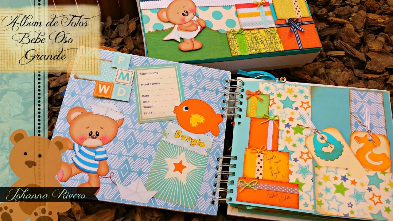 album de bebe oso decoracion de paginas 1 scrapbook youtube