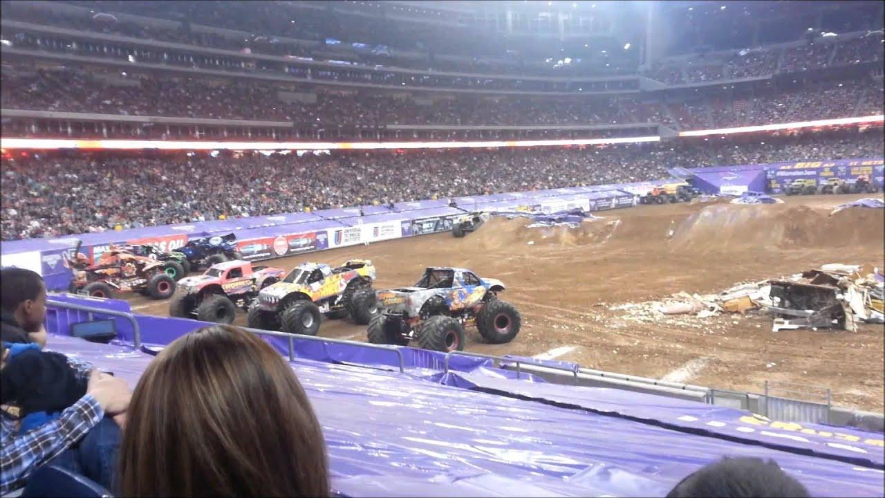 Monster Jam Relient Stadium Houston Texas YouTube - Monster car show houston tx