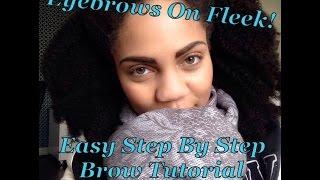 how to   eyebrows on fleek easy brow tutorial
