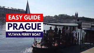 Prague boat trip Vltava river ferry Výton to Smíchovská Náplavka. Přívoz Smíchovská Náplavka - Výton