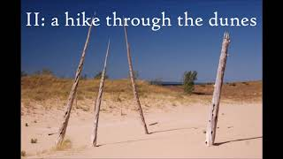 Three Scenes from Sleeping Bear: II. a hike through the dunes