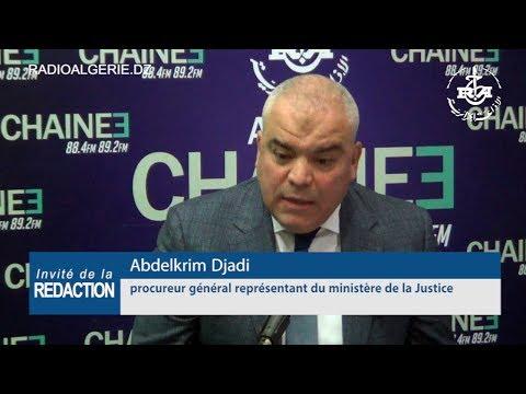 Abdelkrim Djadi procureur général représentant du ministère de la Justice
