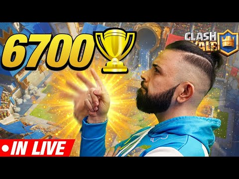 CLASH ROYALE - Sfioro le 6700 COPPE , TOP Mondiale!