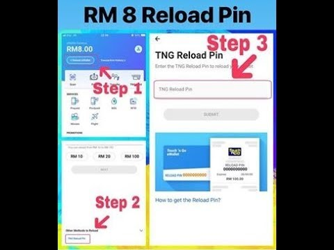 Cara Untuk Menebus Reload Pin Rm8 Percuma Touch N Go Tng Ewallet Youtube