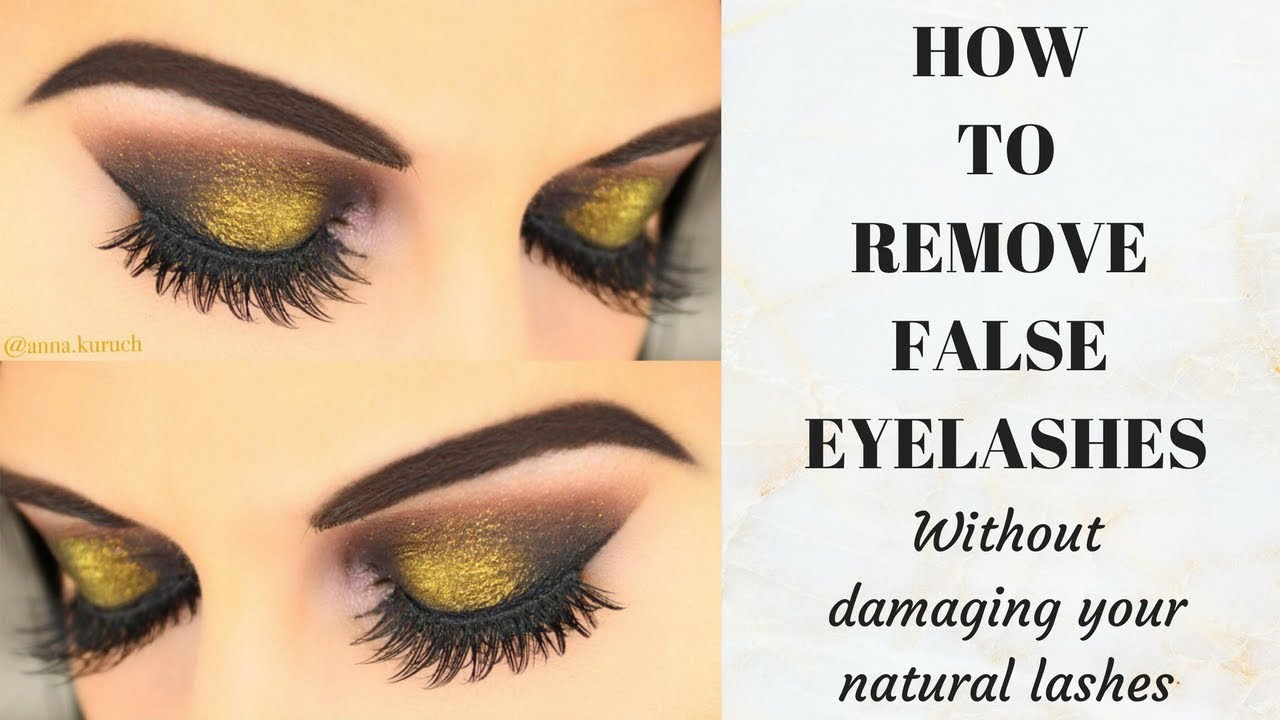 cc72643b924 How to REMOVE False Eyelashes WITHOUT damaging your own Natural Lashes