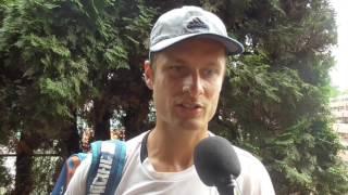 Petr Michnev po výhře v 1. kole na turnaji Futures v Pardubicích