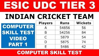 ESIC UDC PHASE 3 PART 1 VIDEO SERIES | ESIC UDC PHASE 3 COMPUTER SKILL TEST VIDEO PART 1 SWAPNIL SIR