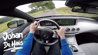 Mercedes S-Class S500 Convertible 455 hp POV test drive GoPro