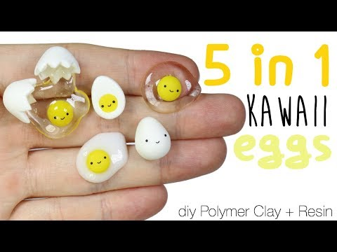How to DIY 5-in-1 Kawaii Egg Polymer Clay/Resin Tutorial