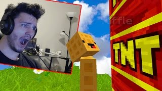 TROLLING A YOUTUBER WHILE HE'S RECORDING! (Minecraft Trolling)