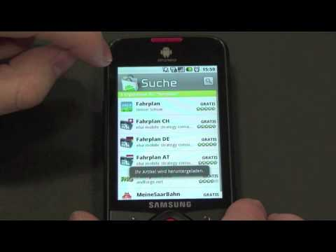 Fahrplan.ch - Android App (Samsung Galaxy Spica I5700)