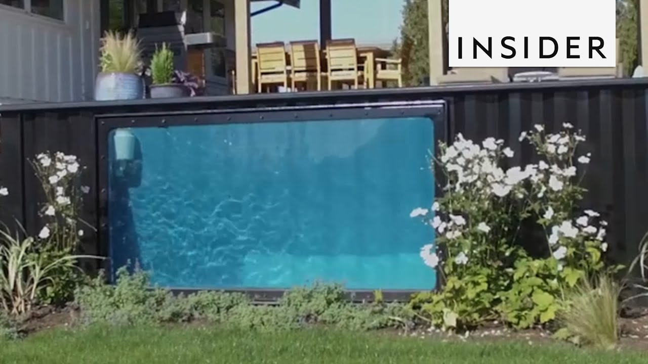 Pools Made From Recycled Shipping Containers Youtube