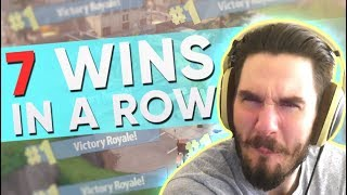 7 WINS IN A ROW 72hrs Fortnite Highlights