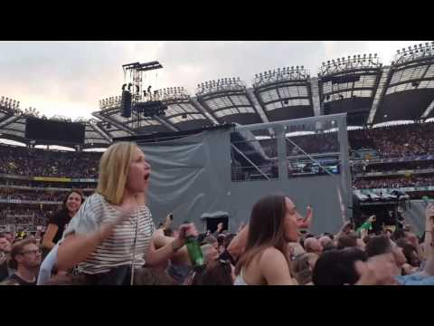 U2  Croke Park Dublin Joshua Tree Where the Streets have no name ,with Jet  fly over