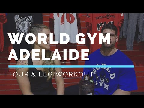 WORLD GYM ADELAIDE | Leg Workout with Justin Eming | Gym Tours