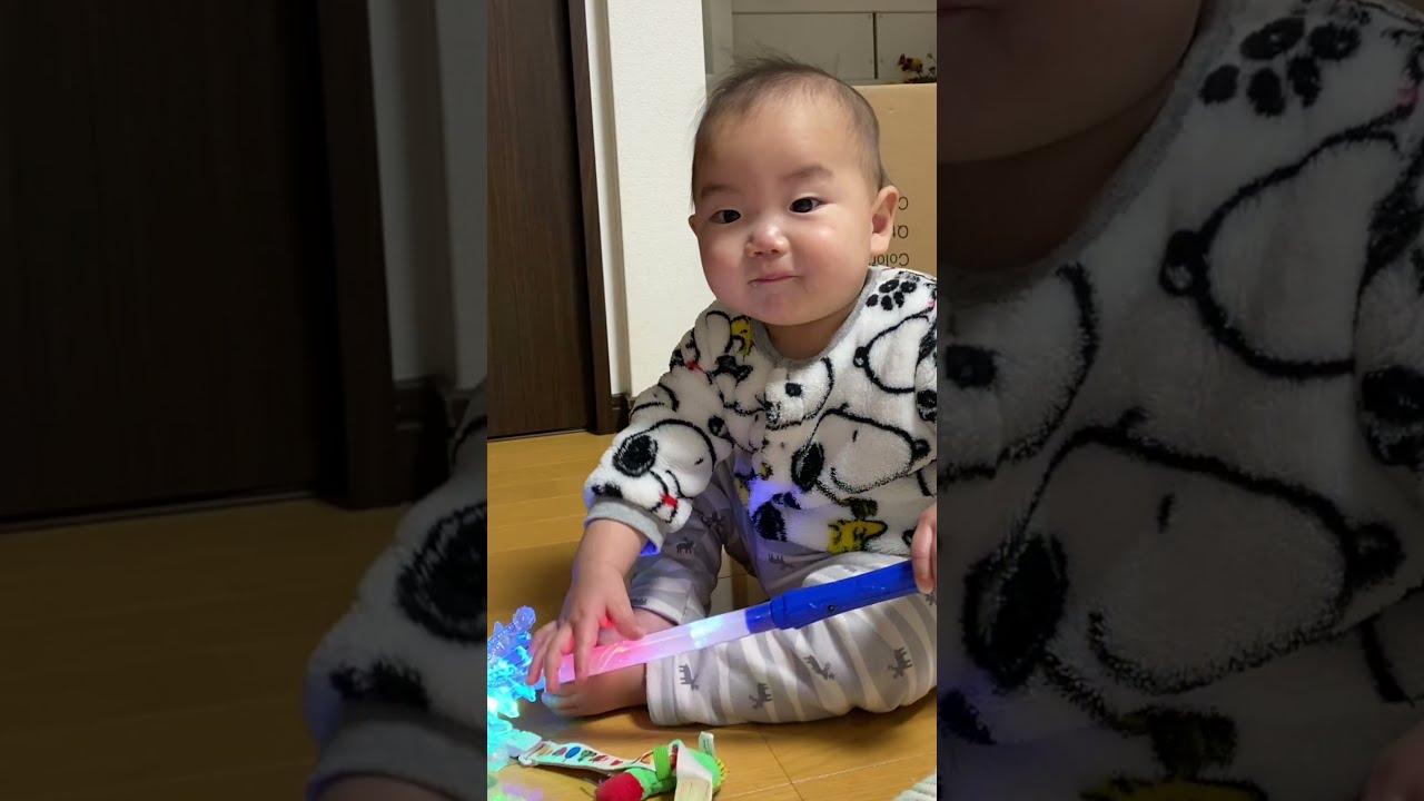 突然の変化に赤ちゃんびっくり【0歳11ヶ月】#Shorts