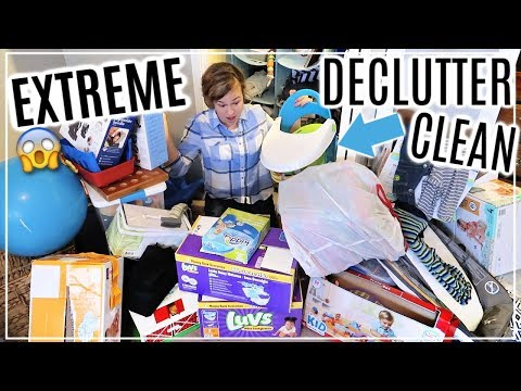 EXTREME DECLUTTER, CLEAN & ORGANIZE WITH ME | CLEAN WITH ME 2019 | ORGANIZING MY HOUSE