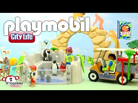 Playmobil City Life Zoo!  Large City Zoo, Children's Petting Zoo, Zoo Animal Care Station and More!