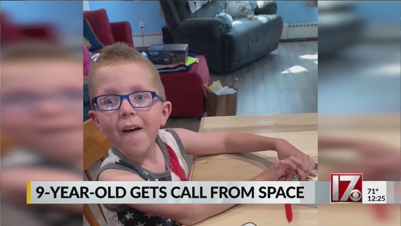 9-year-old boy gets birthday call from space - CBS 17