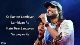 Raataan Lambiyan Lyrics | Shershaah | Sidharth, Kiara | Tanishk Bagchi |Jubin Nautiyal |Asees Kaur