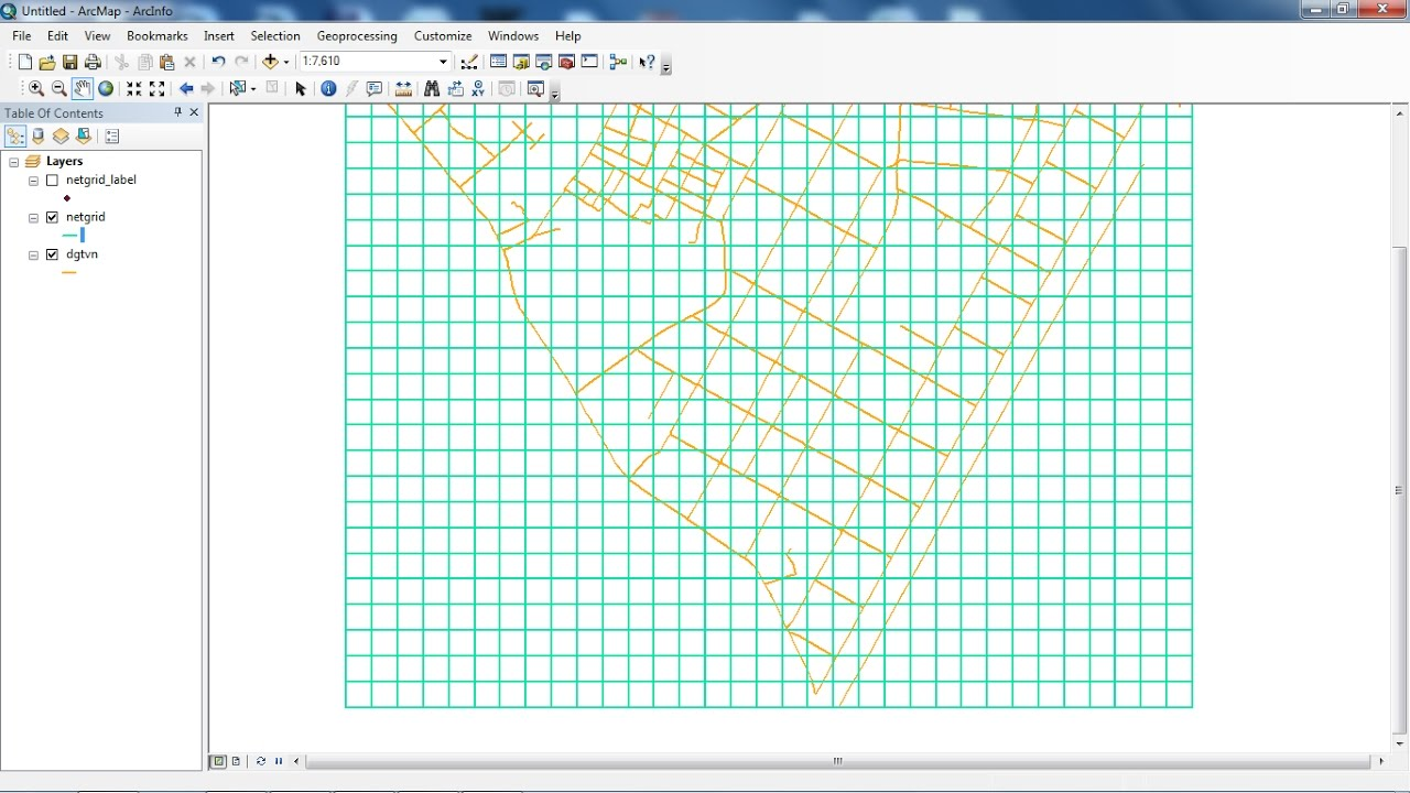 how to create a fishnet of 4 square kilometres arcmap