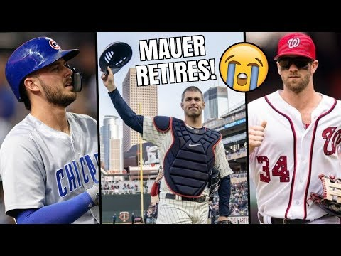 Joe Mauer RETIRES! Kris Bryant Trade Rumors & Bryce Harper Free Agency Update - MLB Offseason Recap