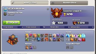 My [Clash of Clans] livestream with DU Recorder