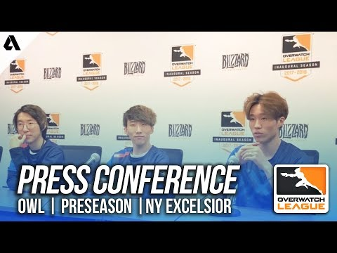 New York Excelsior Press Conference ft SBB Mano | Overwatch League Preseason